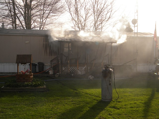 Latest Calls Image -  Trailer Fire in Andover